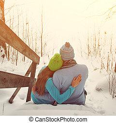 ungt par, i kärlek