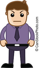 Unhappy Boss - Office Character