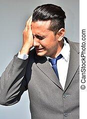 Unhappy Business Man