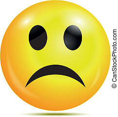 Unhappy glossy smiley icon