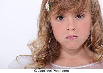 Unhappy little girl