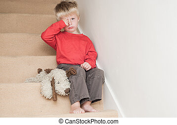 Unhappy Lonely Child