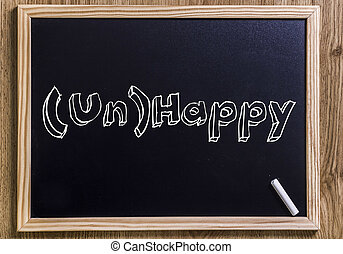 (Un)Happy - New chalkboard with 3D outlined text