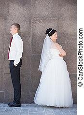 Marital problems concept
