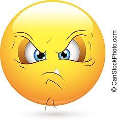 Unhappy Smiley Face - Creative Abstract Conceptual Design...