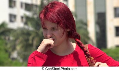 Unhappy Teen Female Redhead