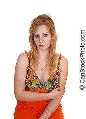 Unhappy teen girl.