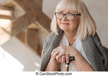 Unhappy thoughtful woman thinking about her life