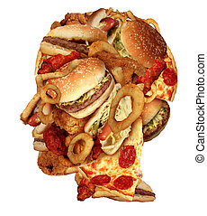 Unhealthy Diet - Unhealthy diet health concept with a group...