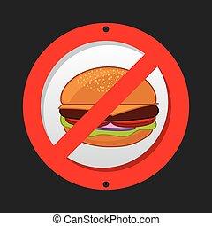 unhealthy food design, vector illustration eps10 graphic