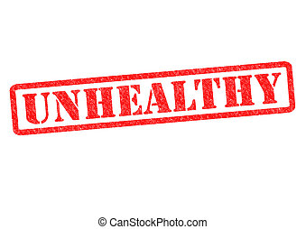 UNHEALTHY Rubber Stamp over a white background.