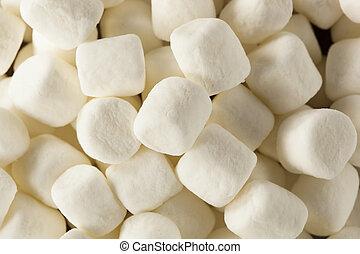 White Mini Marshmallows in a Bowl - Unhealthy White Mini...