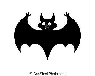 unheimlicher , fledermaus, halloween, form