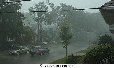 unheimlicher , vorstädtisch, storm.