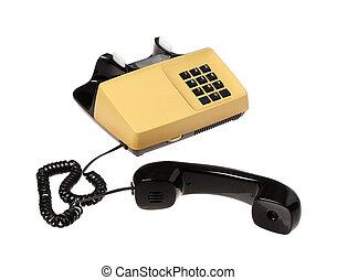 Unhooked telephone