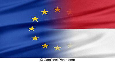 união européia, e, indonesia.