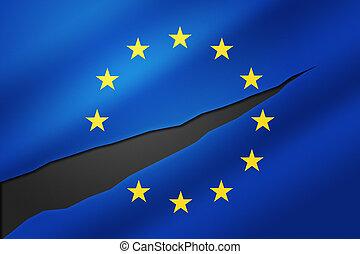 união, freio, europeu