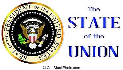 união, isolamento, estado