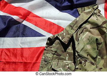 união, militar, bandeira, Reino Unido