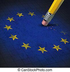 união, problemas, europeu