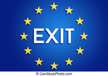 união, saída, europeu