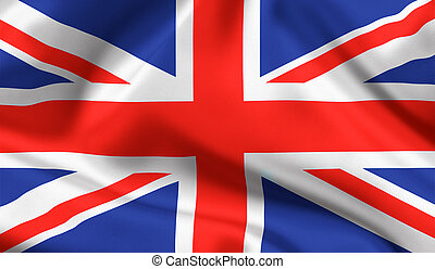 unión, bandera del estado, británico, gato