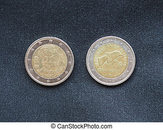 unión, euro, coins, europeo