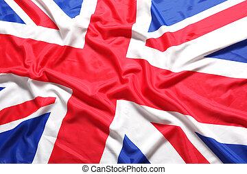 unión, reino unido, bandera, británico, gato