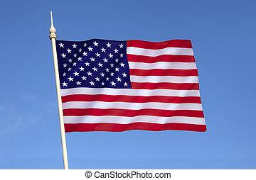 uni, amérique, etats, drapeau