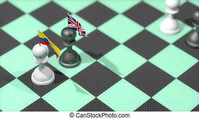 """uni, """"chess, équateur, pion, pays, drapeau, kingdom."""""""