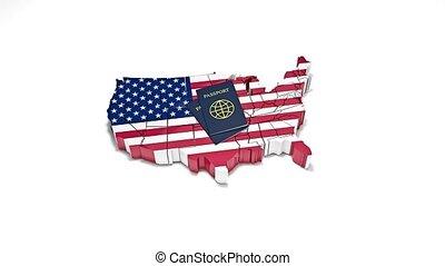 uni, citoyenneté, illégal, 18, immigration., etats