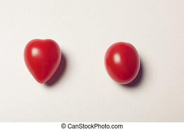 uni, deux, fond, tomates