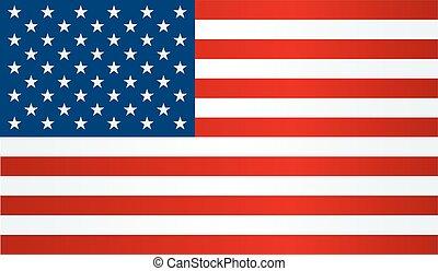 uni, drapeau, etats