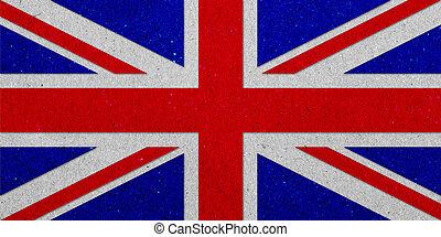 uni, grunge, kingdoml, drapeau, papier, fond