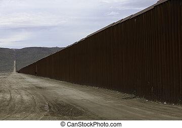 uni, mur, etats, frontière