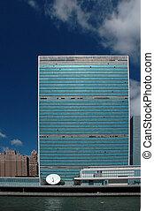 uni, quartiers généraux, nations