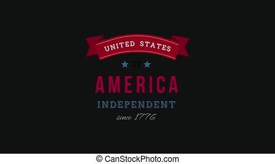 uni, texte, since, 1776, indépendant, amérique, etats