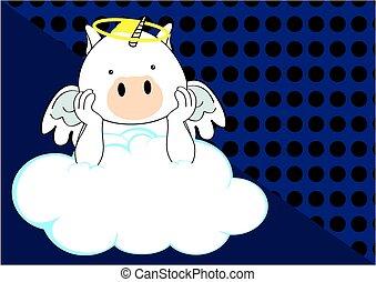 unicorn baby cute angel cartoon