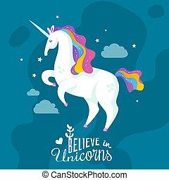Unicorn Cartoon Background