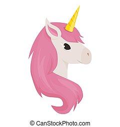 Unicorn cute vector animal character illustration fantasy magic design rainbow horse beautiful fairytale background.