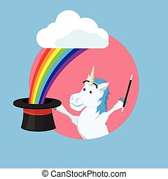 unicorn doing magic