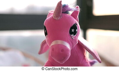 Unicorn fairy tale soft toy background mythology creature .