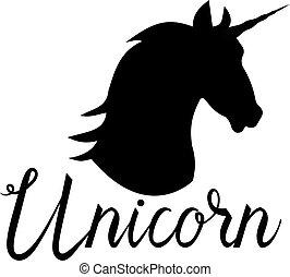Unicorn head mythical horse