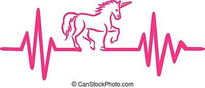 Unicorn heartbeat line
