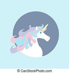 Unicorn horse head