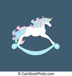 Unicorn horse illustration