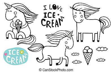ice cream stand coloring pages - photo#28