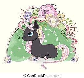 unicorn in flower