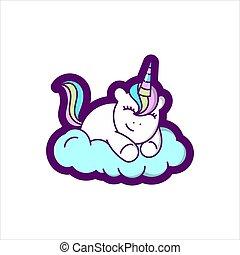 Unicorn is sleeping comfortably
