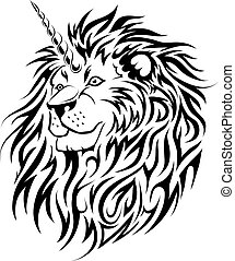 Unicorn Lion tattoo design